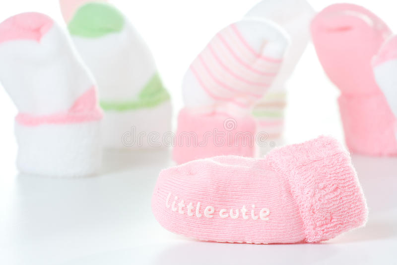 Pochi calzini del cutie fotografie stock