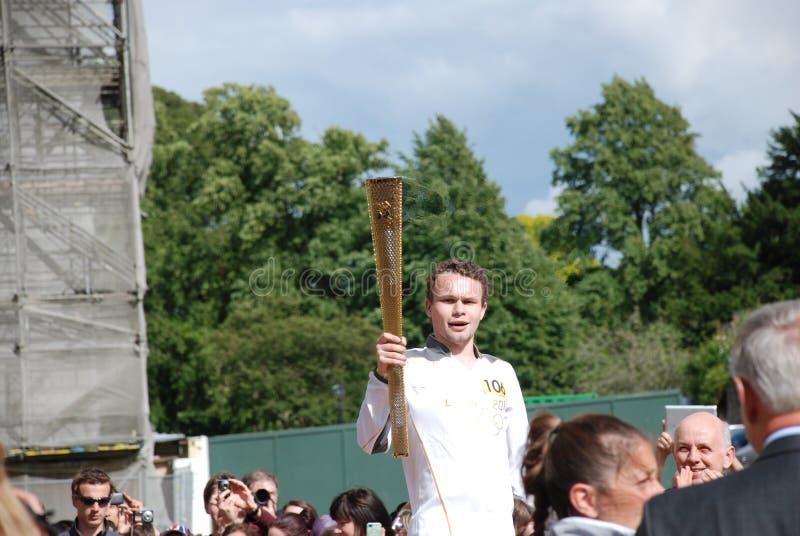 Pochodni olimpijski Luzowanie obrazy royalty free