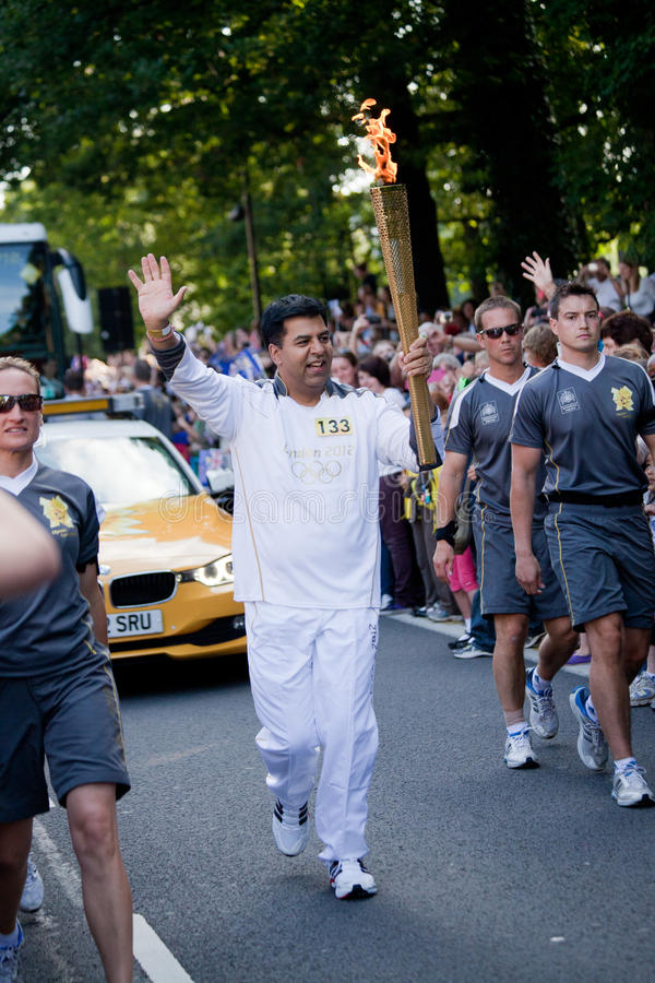 Pochodni olimpijski Luzowanie Sheffield zdjęcia royalty free