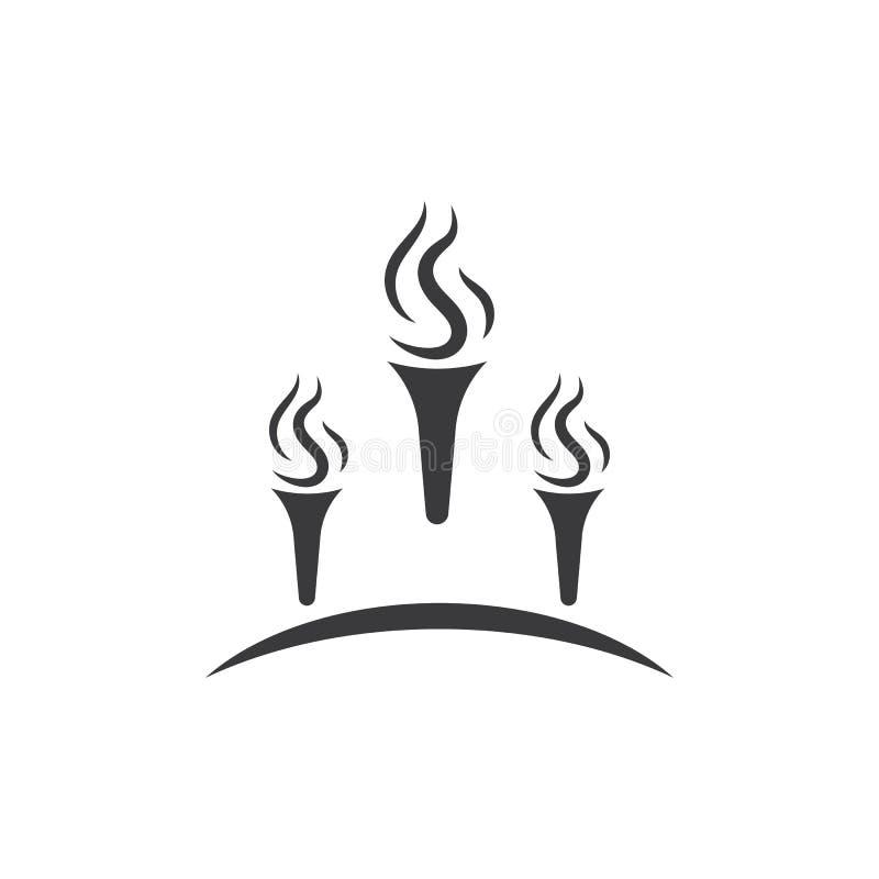 Pochodnia logo wektor ilustracja wektor