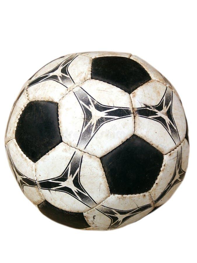 pochodzenie jaj piłki nożnej stary brudny odosobnione white zdjęcia stock