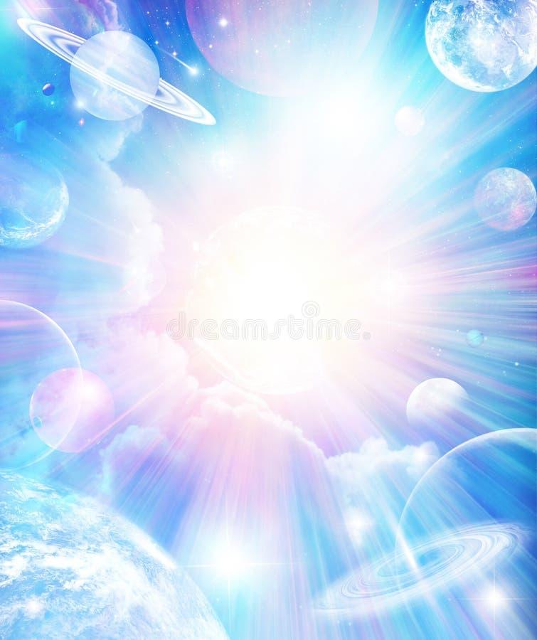pochodzenie wszechświata abstrakcyjne ilustracja wektor
