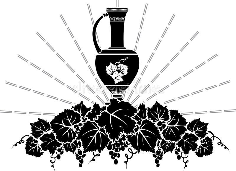 Pochoir de symbole de vigne illustration stock