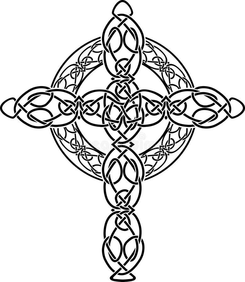 Pochoir noué de croix celtique illustration libre de droits
