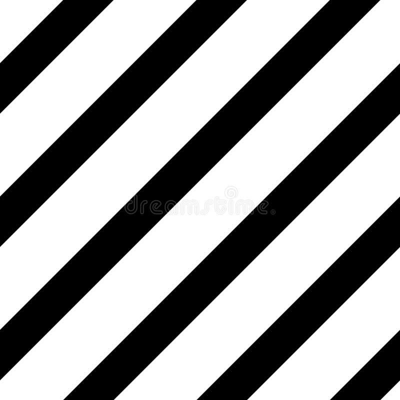 Pochylony prosty czerni linii wzór ilustracja wektor
