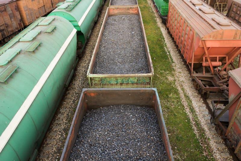 Pociągów towarowych furgony zdjęcie stock