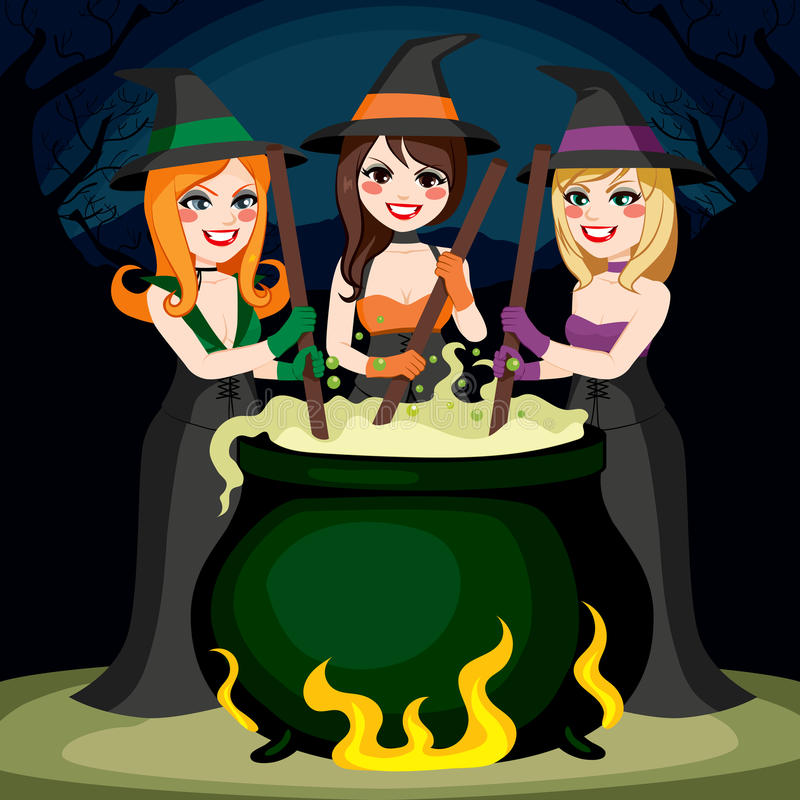 Poción de las brujas de Halloween stock de ilustración