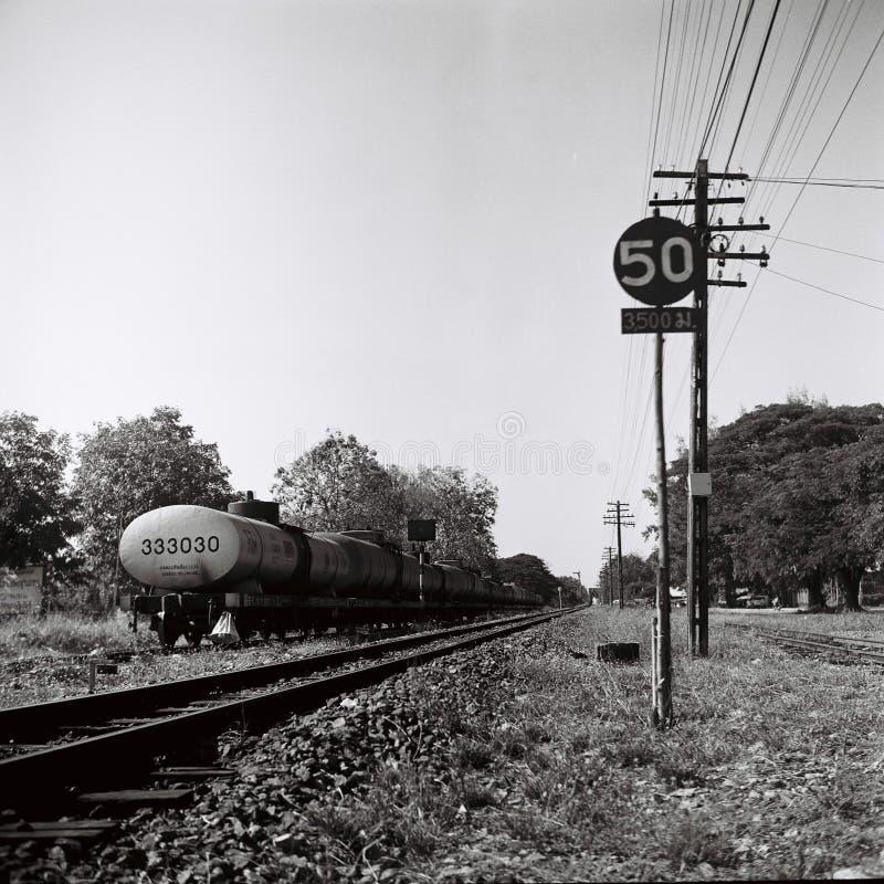 Pociągów ślada w lampang zdjęcia stock