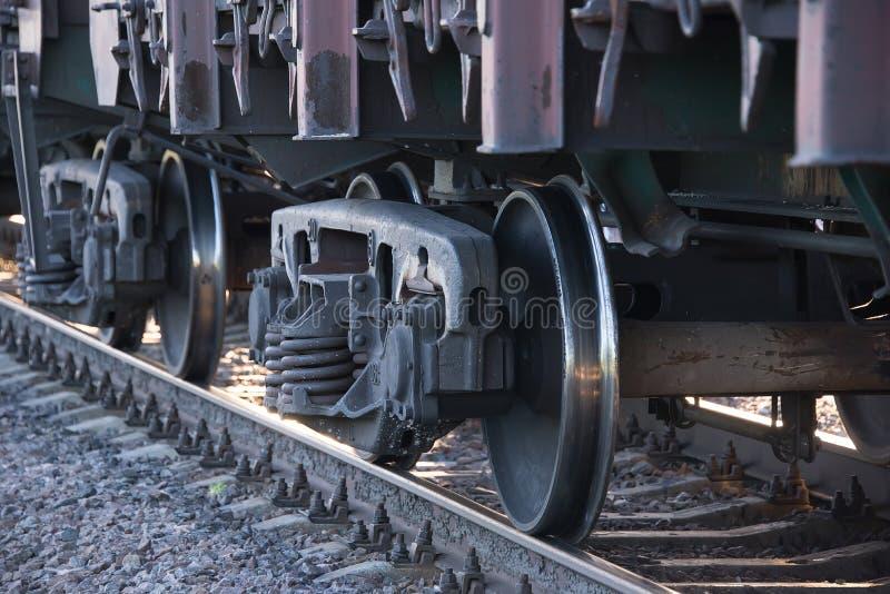 Pociągów koła na poręczach zdjęcie royalty free