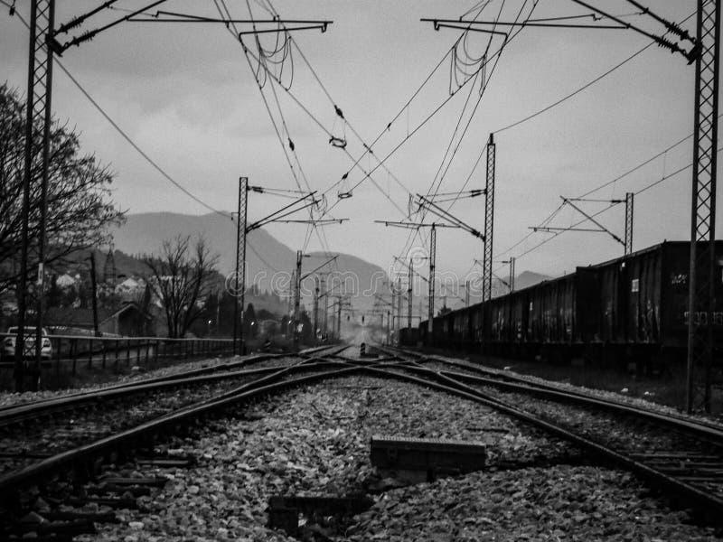 Pociągów poręcze zdjęcie stock