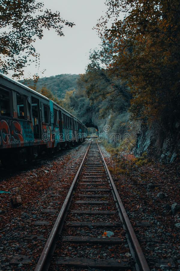 Pociąg bez końcówki obrazy royalty free