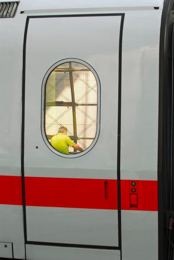 pociąg do drzwi zdjęcia stock