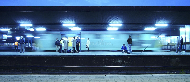 pociąg do stacji fotografia royalty free