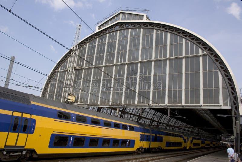pociąg do stacji zdjęcie royalty free
