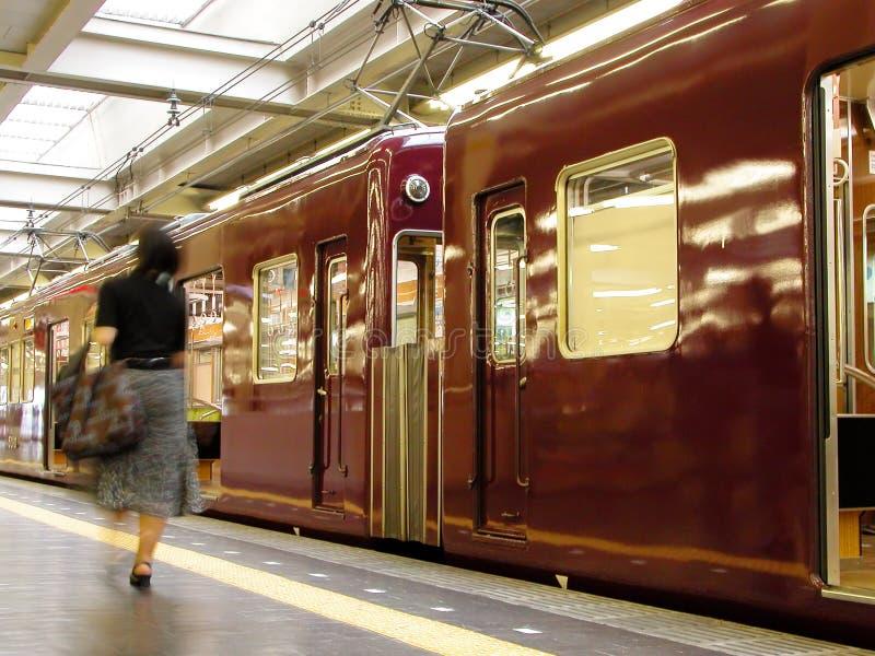 pociąg do stacji zdjęcia royalty free