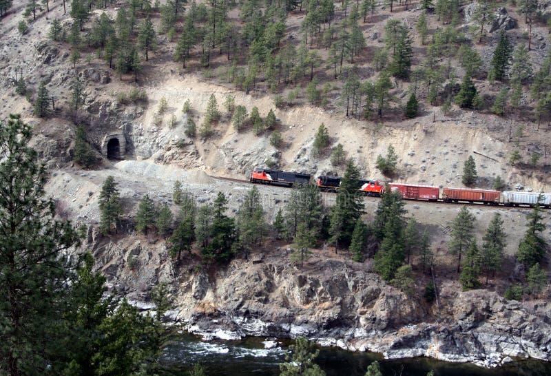 pociąg do tunelu fotografia stock