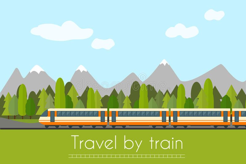 pociąg kolei ilustracja wektor