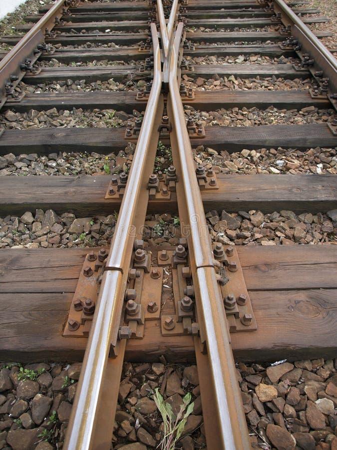 Pociąg, kolejowi ślada fotografia royalty free