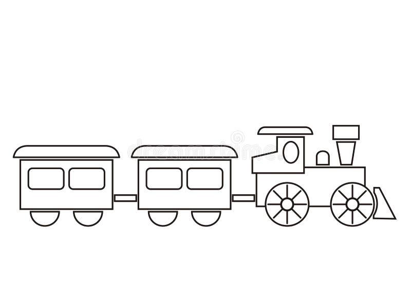 Pociąg, kolorystyki książka ilustracji