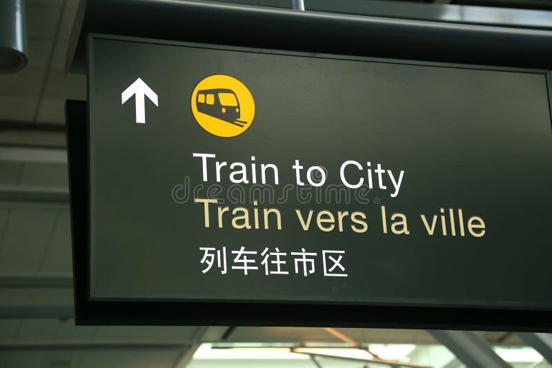Pociąg miasto znak obraz stock