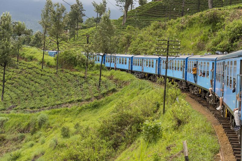 Pociąg od Kandy Ella w Sri Lanka zdjęcia royalty free