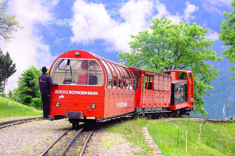 Pociąg od Rothorn Brienz. zdjęcia stock