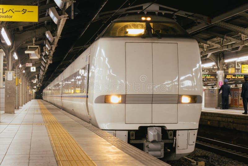 Pociąg przy platformą w Japonia fotografia royalty free