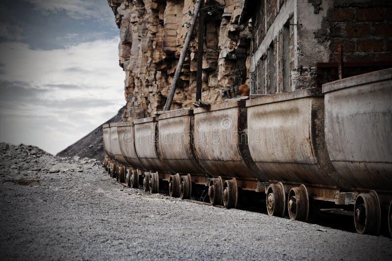 pociąg towarowy furgony obraz stock