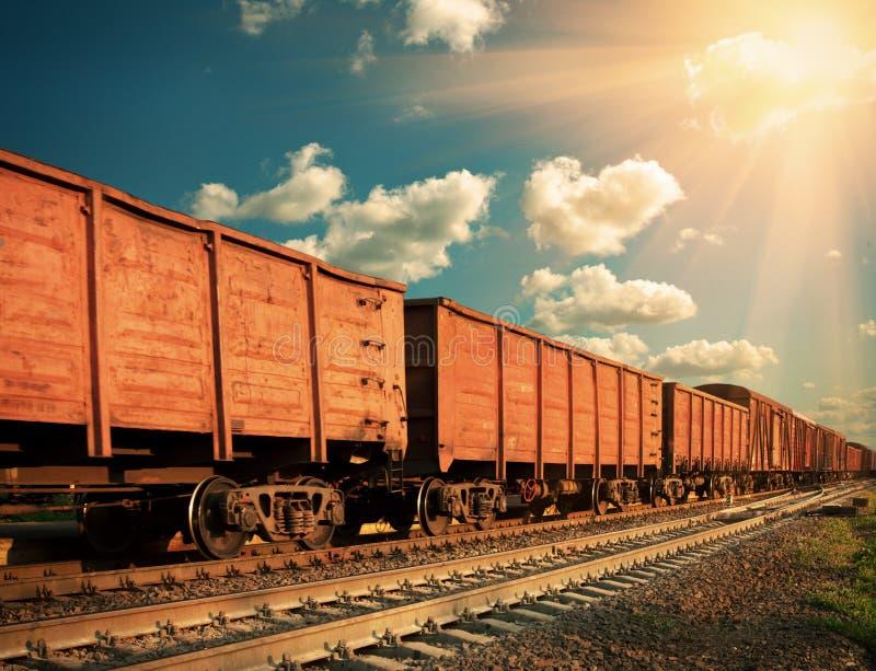 Pociąg towarowy zdjęcia royalty free