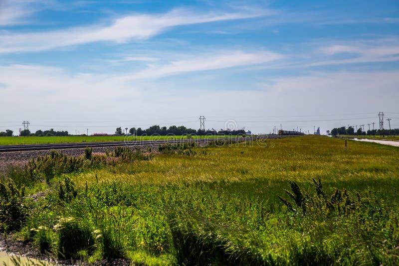 Pociąg Towarowy w Środkowy Zachód zdjęcie stock