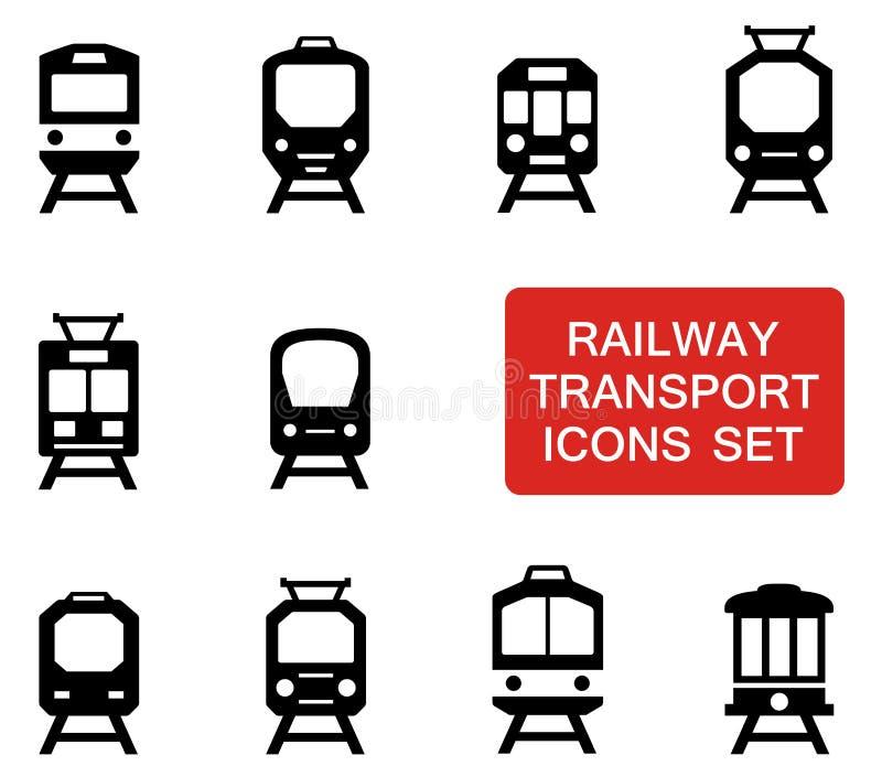 Pociąg ustawiający z czerwonym signboard ilustracji