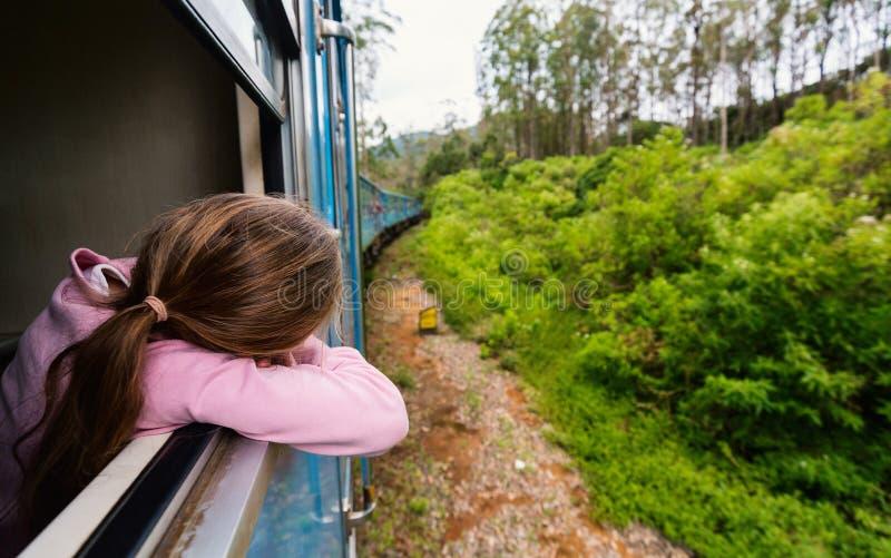 Pociąg w Sri Lanka obrazy royalty free