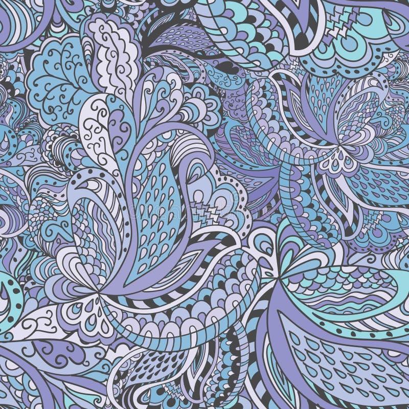 Pociągany ręcznie abstrakcjonistyczny bezszwowy wzór ilustracji