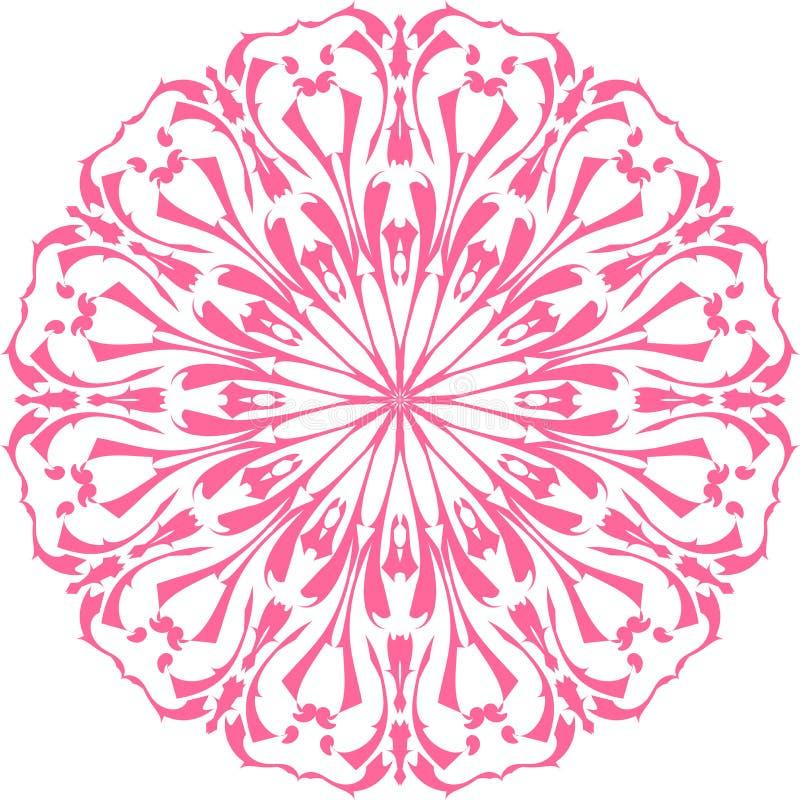 Pociągany ręcznie doodle wzór Dekoracyjny mandala Projektuje element dla druków, greting karty, dorosła kolorystyki książka, zapr ilustracja wektor