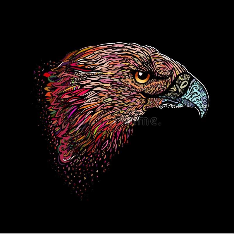 Pociągany ręcznie Eagle ilustracja wektor