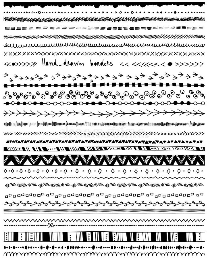 Pociągany ręcznie granicy royalty ilustracja