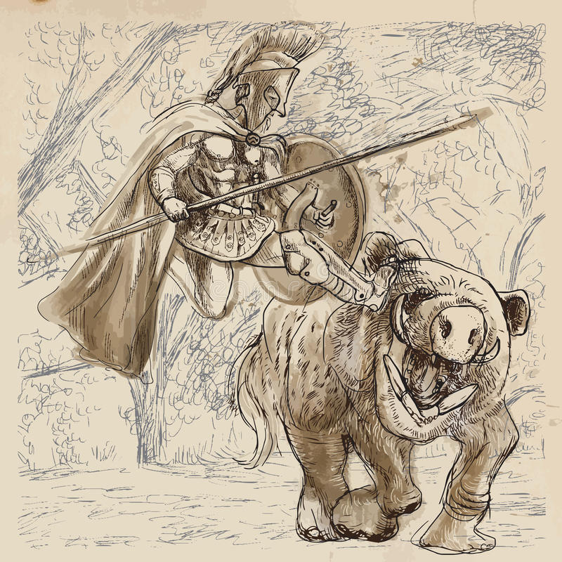 Hercules royalty ilustracja