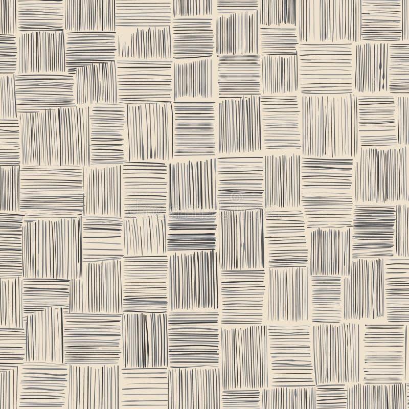 Pociągany ręcznie patchworku tło bezpłatni uderzenia ilustracja wektor