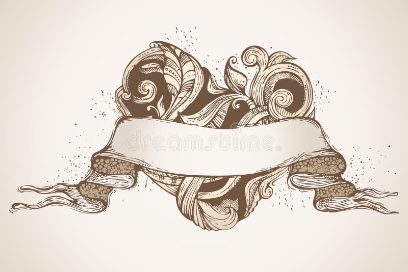 Download Pociągany Ręcznie Rocznika Serce I Faborek Ilustracja Ilustracja Wektor - Ilustracja złożonej z doodles, dzień: 65225161
