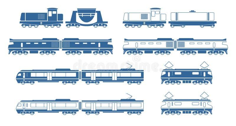 pociągi royalty ilustracja