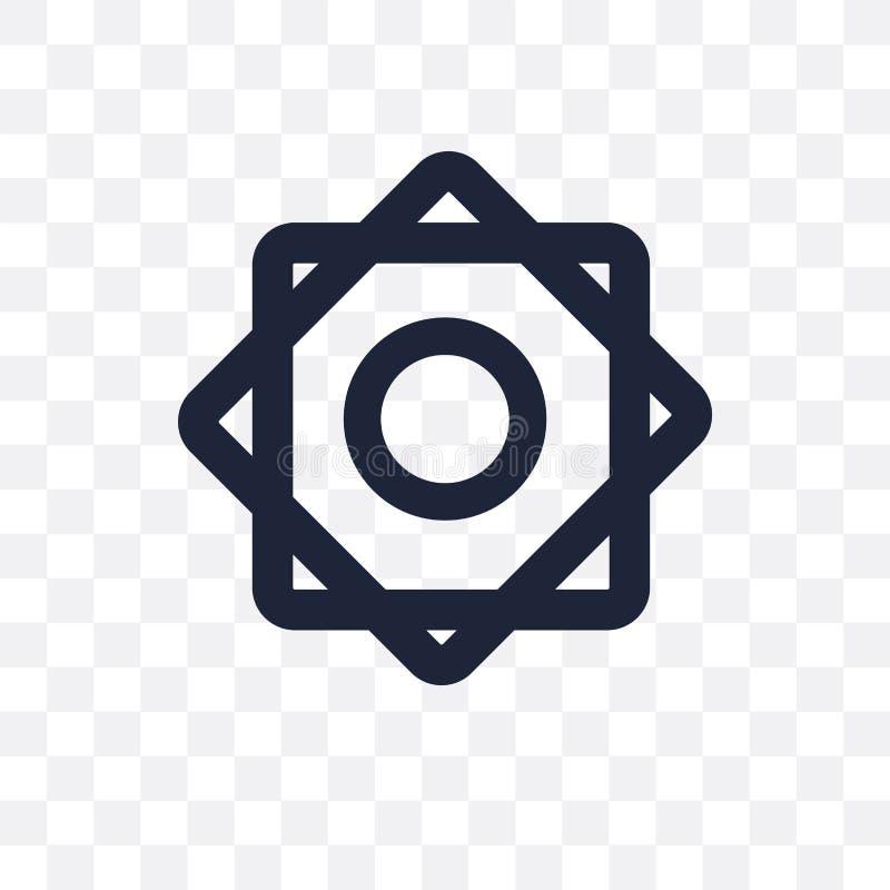 Pocierania el Hizb przejrzysta ikona Pocierania el Hizb symbolu projekt od Rel ilustracja wektor