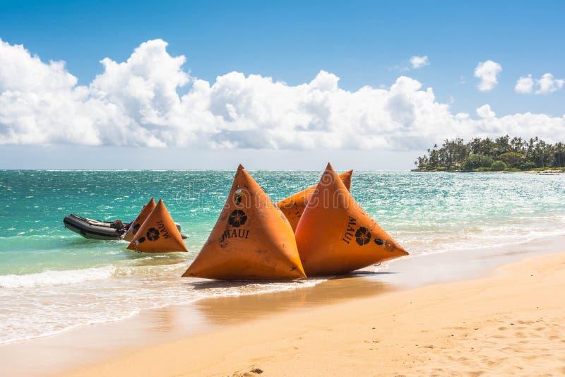 Pociesza na plaży w Maui, Hawaje fotografia stock