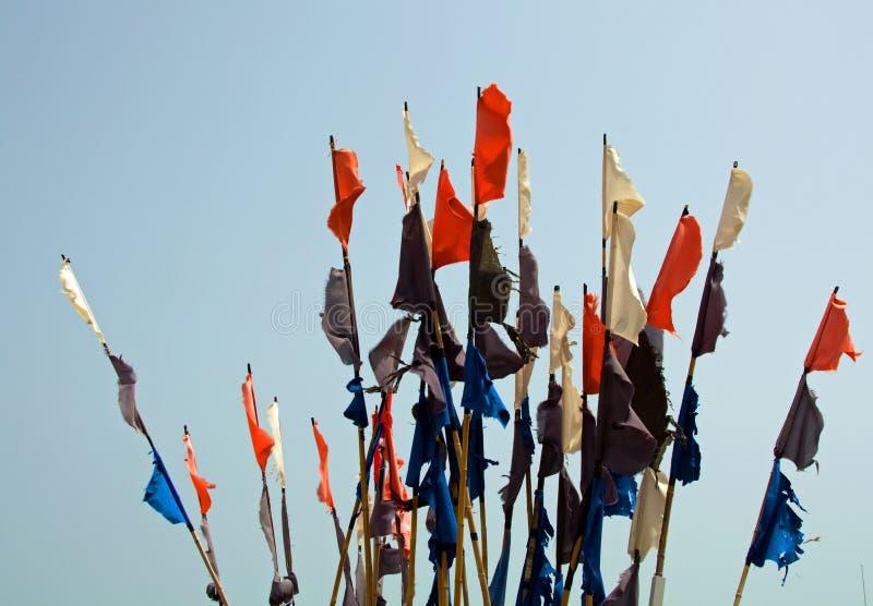 pociesza połów kolorowe flaga obrazy stock