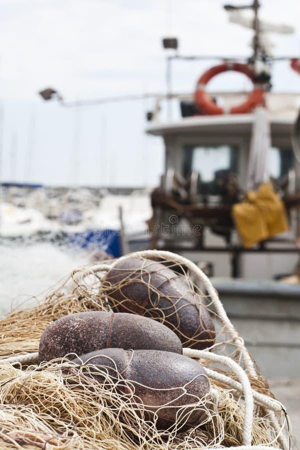 pociesza sieć rybacką obraz stock