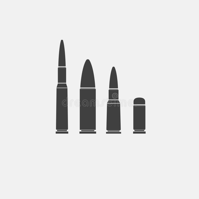 Pocisk ikona ilustracji
