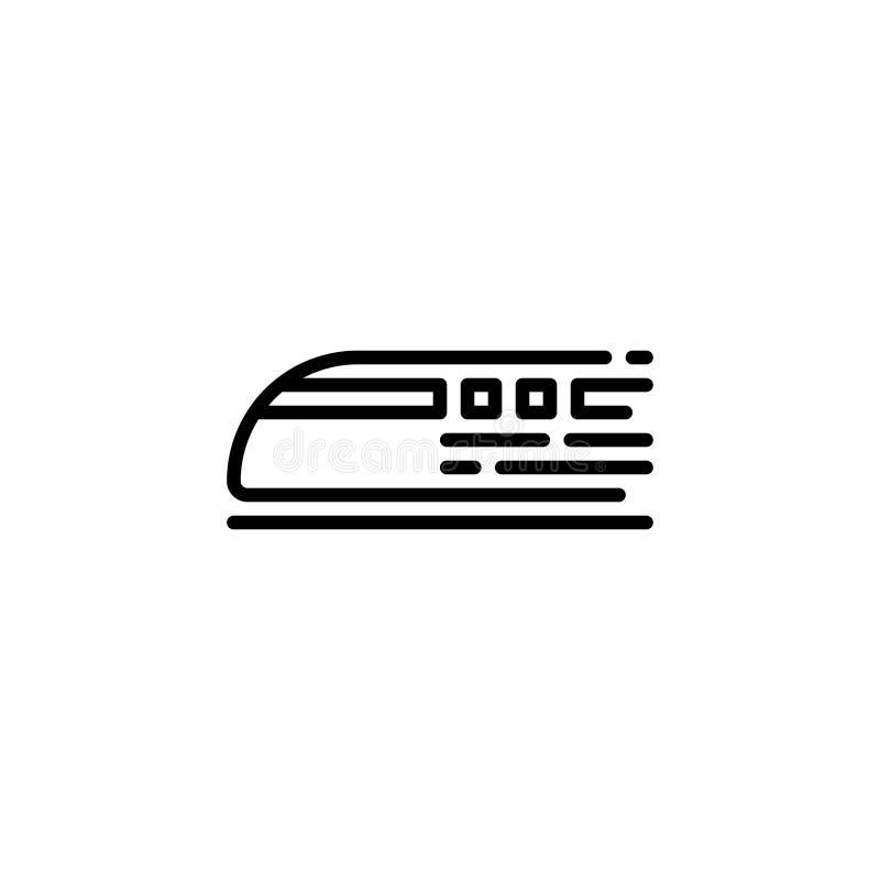 Pociska pociągu ikony zapas transportów pojazdy odizolowywał wektor ilustracja wektor