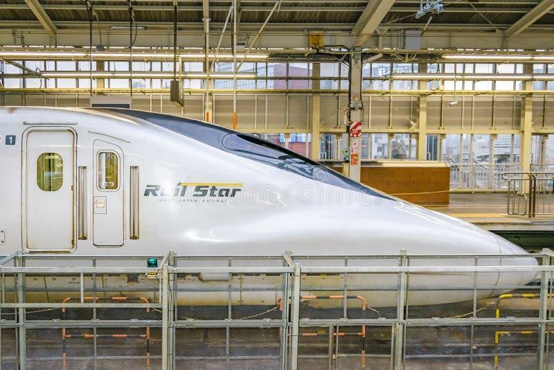 Pociska pociąg Parkujący, Osaka, Japonia fotografia stock