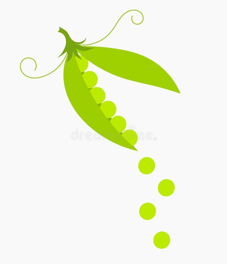 pociski tła zielonych grochu kapsuły białych ilustracji