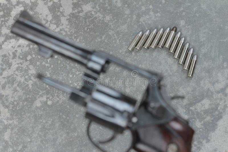 pociski z plama pistoletem zdjęcia stock