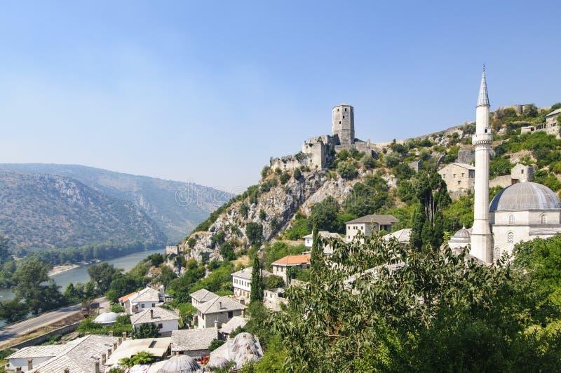 Pocitelj Bosnien och Hercegovina, Europa som förkortar perspektiviskt royaltyfri foto